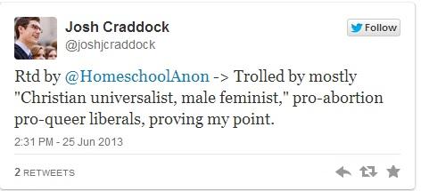 Craddock reply tweet