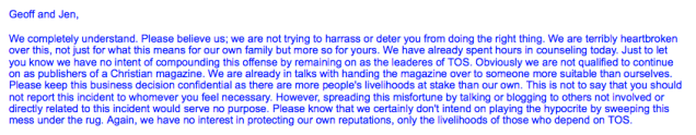 Excerpt from a July 4, 2007 email sent by Paul Suarez to Jenefer Igarash.