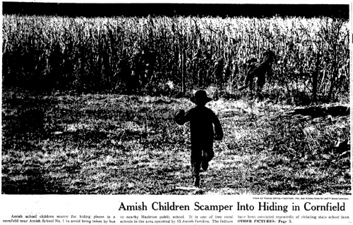 After Iowa school authorities try to force Amish children to attend public school, the U.S. Supreme Court rules in the 1972 case Wisconsin v. Yoder in favor of religious exemptions from compulsory school attendance.