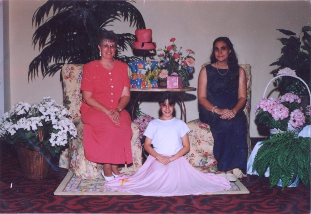 "Photo from Kierstyn King: ""Grandma, Me, and Mom – Dance Recital Circa 2003."""