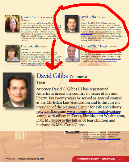 David Gibbs III is a columnist for the Old Schoolhouse Magazine.
