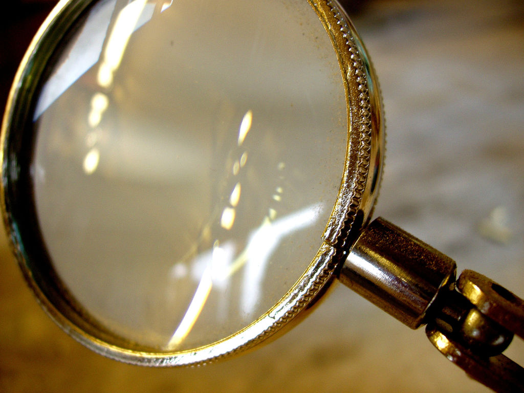 "CC image ""Magnifying Glass"" courtesy of Flickr, Auntie P."