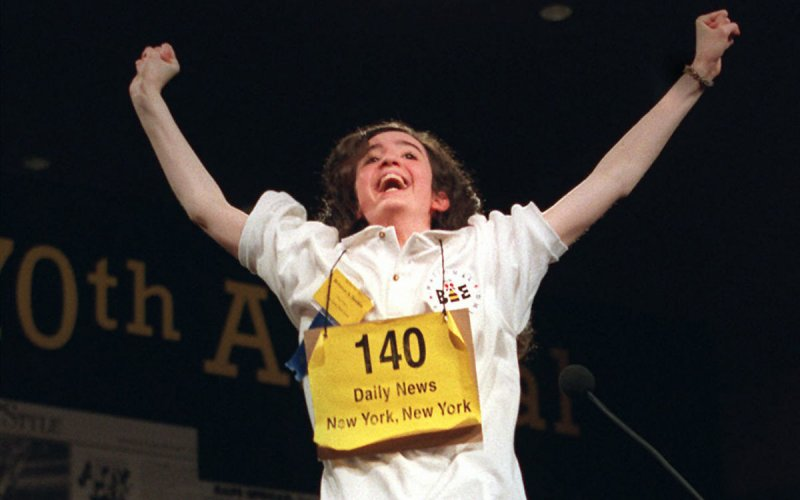 In 1997, 13-year-old Rebecca Sealfon of Brooklyn, New York becomes the first homeschooled student to win the National Spelling Bee.